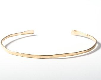Gold Bangle, Gold Cuff, Delicate Gold Bangle, Gold Bracelet, Cuff, Gold Cuff Bracelet, Delicate Bangle, Layering Bangle, Layering Cuff, Gold