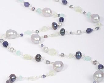 Gemstone Necklace, Long Gemstone Necklace, Multi Gemstone Necklace, Long Necklace, Long Gemstone Necklace, Gemstone Necklace, Semi Precious