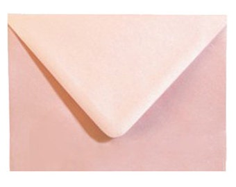 Announcement Envelopes - 5.25 x 7.25 ( A7 ) - ROSE PINK SHIMMER- 10 Count