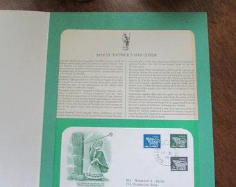 Granard, Ireland - 1978 St. Patrick's Day First Day Cover - Destruction of the Druid Idol Crom -Cruach - Irish Postage Ephemera