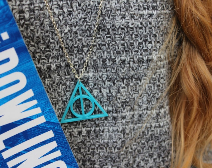 Deathly Hallows Turquoise Necklace.