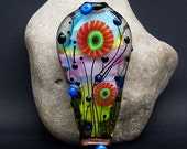 The scent of Spring - Glass Art - Lampwork focal bead by Michou P. Anderson