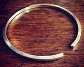 Open Cuff Bangle Bracelet - Squared