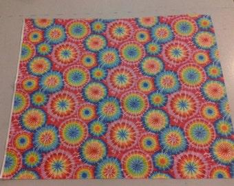 Tie Dye circles cotton fabric. 245333