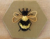 Bee stumpwork embroidery kit
