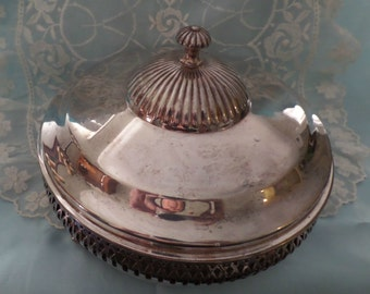 Stunning Vintage Covered Relish Candy Dish Silver Plated