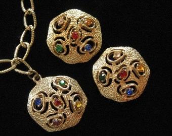 1970's Charm Bracelet Abstract Modern Set