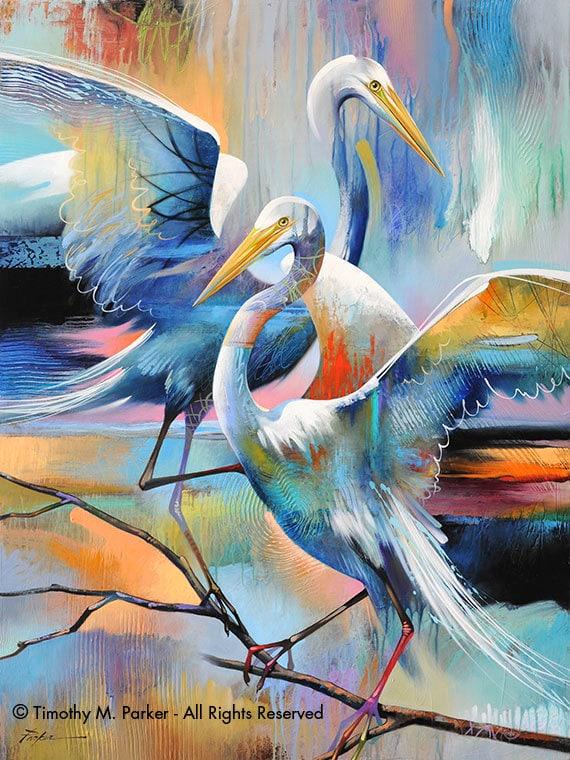 Bird paintings modern - photo#10
