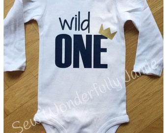 I'm the wild one Bodysuit Shirt Baby twin first birthday