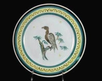 Vintage ARABIA EAGLE FINLAND Plate Hand Painted Art Pottery Bird