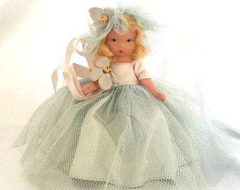 Vintage bisque Nancy Ann Bridesmaid doll Family Series in original box