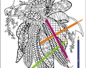 Indian Corn  Adult coloring page