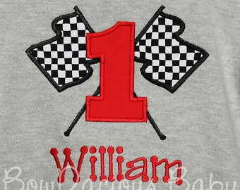 Checkered Flag Birthday Shirt, Race Car Birthday Shirt, Boys Checkered Flag Birthday Shirt, Boys Race Car Birthday Shirt, Custom Boys Shirt