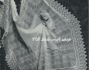 Shetland shawl knitting pattern. Instant PDF download!
