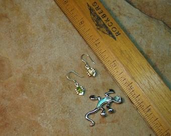 Natural Peridot Gemstones Solid 925 Sterling Silver Earrings