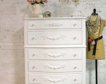 Painted Cottage Chic Shabby French Dresser CH849