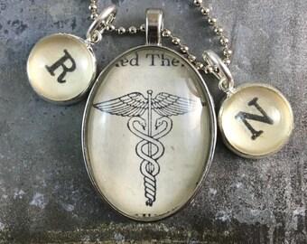 RN Caduceus Nurse Dictionary Necklace