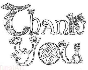 celtic knots thank you 12 coloring postcards one dozen cards color mail adult coloring page mailart mail art tursiart wet media