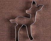 Baby Deer Cookie Cutter, Fawn Cookie Cutter,  Baby Shower Cookie Cutters, Metal Cookie Cutters, Animal Cookie Cutters, Sugar Cookie Cutters