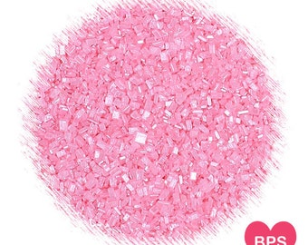 Shimmer Light Pink Sparkling Sugar, Edible Sprinkles, Light Pink Sugar, Pink Sugar Crystals, Wedding Sprinkles, Baby Shower Sprinkles
