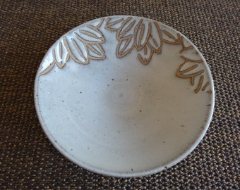 Snow On Bamboo Leaves Ceramic Plate - for Kalyn