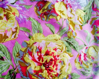 Philip Jacobs Blowsey, pink, OOP, Kaffe collective,  vhtf, half yard, floral fabric, early Westminster