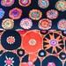 Kaffe Fassett rare OOP fabric, Suzani, Plink, black half yard bundle, early Westminster, vhtf