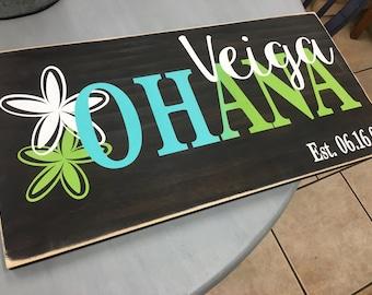 Ohana Family Sign