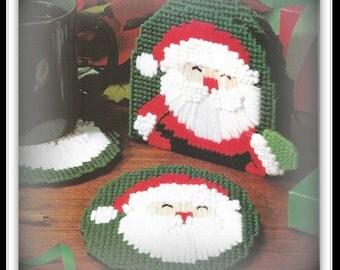 Santa Coasters Pattern - Plastic Canvas - 09251093 - Download