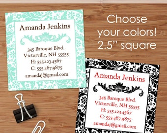 Amanda (Classic Baroque) 50 Custom Square Business or Calling Cards