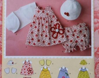 Baby Outfit Sewing Pattern UNCUT Simplicit 2375 dress hat bolero