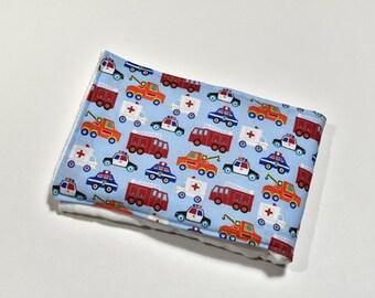 Burp Rag Baby Items Baby Burp Cloth, Baby Gift, Cute Baby Shower Gift, Trucks, Made From Truck Fabric