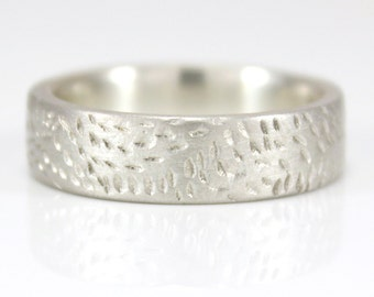 Silver Ring Handmade Silver Band Rustic silver Ring Argentium DRIFT Ring Custom made to fit