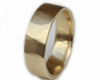 Mens gold Wedding Band, Mens Wedding Band, Mens gold ring, 14ct Gold mens wedding Band, Gold wedding ring mens