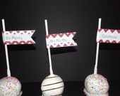Christmas Cake Pop Straw Flags Be Merry Celebrate Ho Ho Ho Flags - Christmas Eve Brunch Lunch Dinner Party Flag Tag