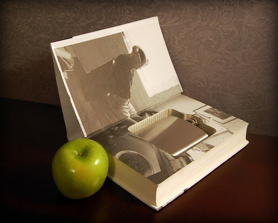Hollow Book Safe & Flask (Steve Jobs)