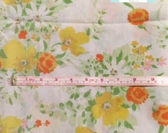 Yellow Vintage Floral Pillowcase