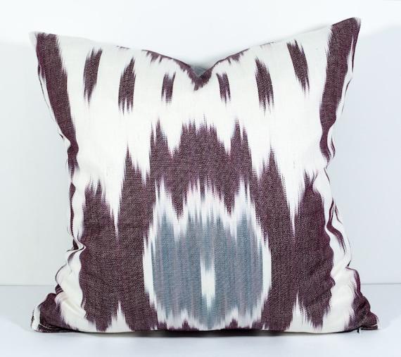 15x15 Throw Pillow Cover : 15x15 brown gray ikat pillow covers ikat pillow brown gray