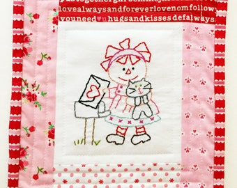 FEBRUARY ANNIE Little Quilt Kit by Cleo and Me