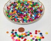 100 Enamel Dots, Mini Enamel Dots, Multicolor Enamel Dots, Rainbow Enamel Dots, Crafts, Scrapbooking, Party Supplies, Gift Wrapping