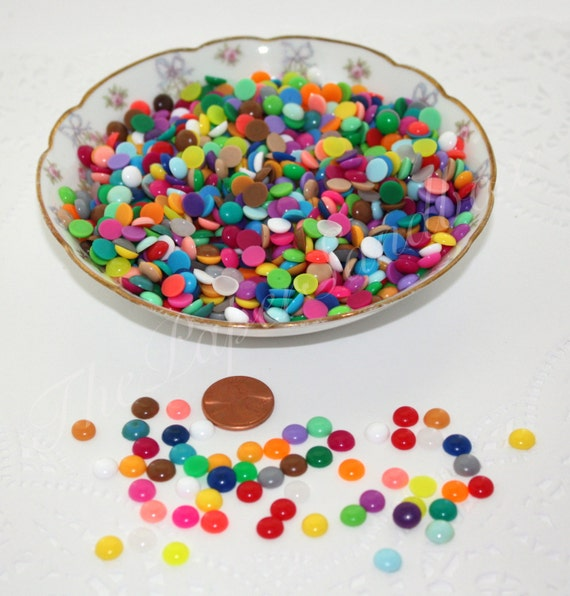 100 Enamel Dots, Mini Enamel Dots, Multicolor Enamel Dots, Rainbow Enamel Dots, Crafts, Scrapbooking, Party Supplies, Gift Wrapping