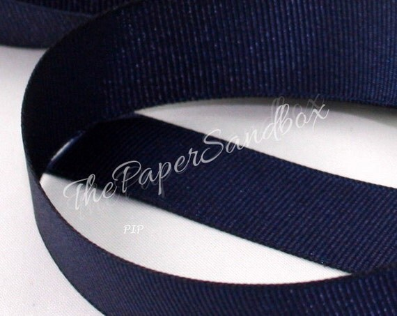 "Navy Blue Grosgrain Ribbon, Navy Ribbona, 3/4"" wide by the yard, Crafts, Sewing, Gift Wrapping, Nautical Weddings, Costumes, Home Decor"