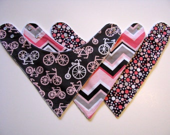 Baby Bandana Bibs for Girls  Michael Miller Fabric   374  abc