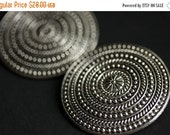 VALENTINE SALE Two (2) Viking Brooches. Silver Apron Pins. Silver Norse Shoulder Brooches. Concentric Rings Brooches. Historical Reenactment