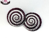 ON SALE RTW Amethyst & Crystal Spiral Rhinestone Pasties - Size S - SugarKitty Couture