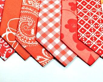 Coral Neckties, Mens Neckties, Coral Cotton Mens Neckties, Wedding Neckties, Custom Neckties