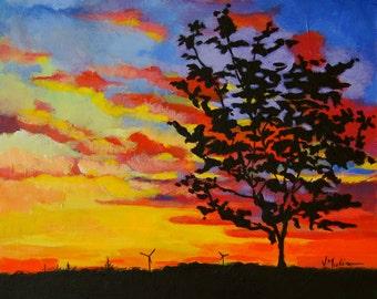 Acrylic Painting Original Skyscape