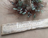 Reclaimed Wood Farmhouse Sign Rustic Weathered Wood Wall Decor