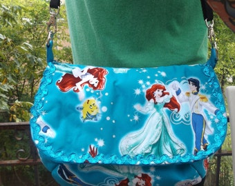 Little Mermaid Sling Bag   Adjustable  Crossbody   Disney