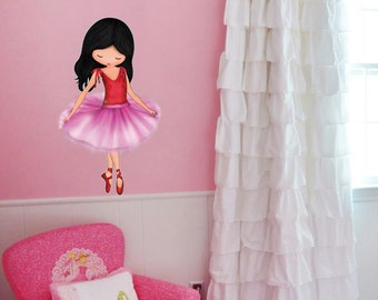 Wall Decor Ballerina Girls Room Wall Sticker Vinyl Wall Decal Ballet Dancer Wall art Kids Room Decor Ballerina Nursery Art Decoration